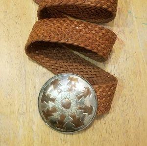 Accessories - VINTAGE Genuine Moroccan Leather Braided Belt